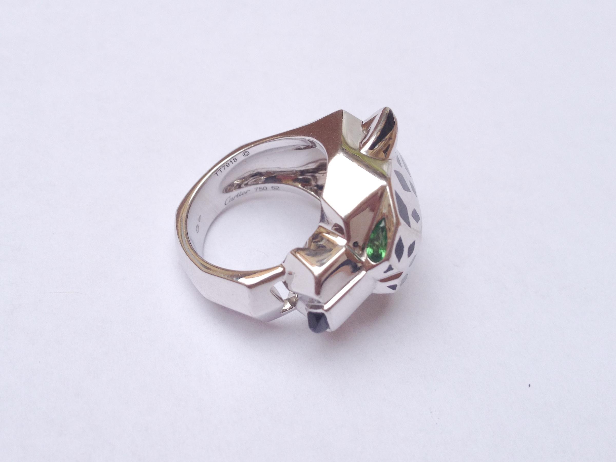 ring Panthère de Cartier – white gold 18kt – certificate – prsten ... 6462b5b34d1